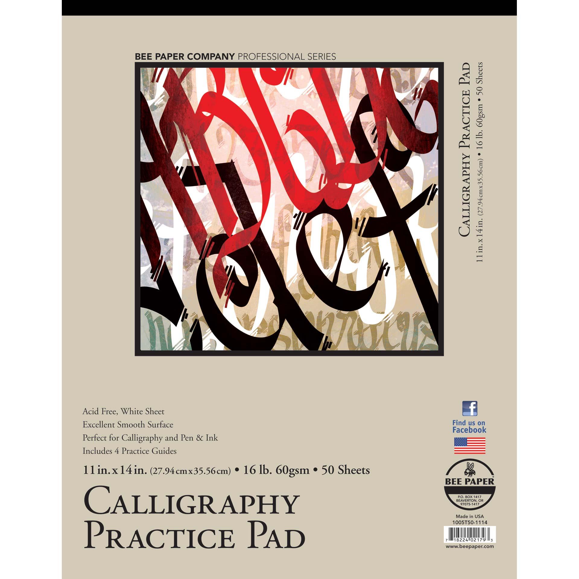 Calligraphy Practice Bee Paper
